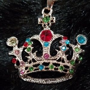 Betsey Johnson crown necklace